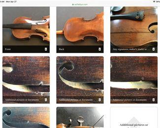 C. 1890 German made replica of Stradiuarius. See inside label   $300 firm!