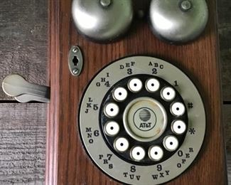 Wooden ATT Push button phone. $18 shipping based on buyers location