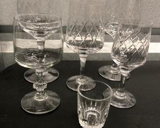 Misc. crystal stemware sets