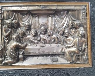 LOT 6      Last Supper 3 dimensional  Metal   $125