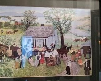 Grandma Moses Framed Print, $25. NOW 50% OFF - NEW PRICE $12.50! Use button below for purchase with local pickup