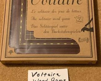 Voltaire Word Game, $10. NOW 50% OFF - NEW PRICE $5.00! Use contact button below for purchase with local pick up