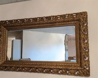Antique Mirror in Ornate Frame, $125. NOW 50% OFF - NEW PRICE $62.50! Use contact button below for purchase with local pick up