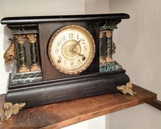 """ANTIQUE INGRAHAM """" ADRIAN """" MANTLE CLOCK - $60 Nice clock. Has pendulum, no key. Is not running.  NOW 50% OFF - NEW PRICE $30.00! Use contact button below for purchase with local pick up"""