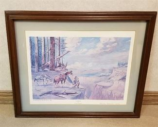 Lithograph ~ THE PROVIDER by Charley Anderson ~ Numbered & Signed ~ 18 in. x 14 in. ~ Framed: 24 in. x 20 in.