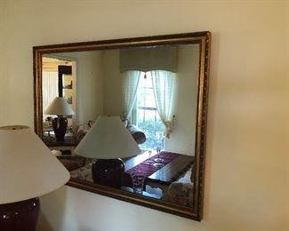 "Gold framed mirror  $75.00  49.5"" x 37.5"""
