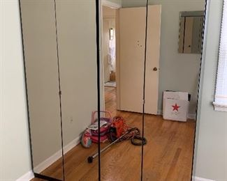 "Mirrored wardrobe closets (2). Condition good. Dimensions 32""w x 78""h x 22.5""d    Price $60 each"