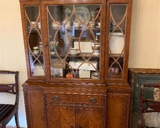 "Petite Glass front China cabinet.  Condition good.  Dimensions 42""w x 76""h x 16""d   Price $295"