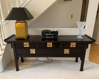 """Century Furniture sofa table (72""""W x 18""""D x 30""""T) - $350 or best offer."""