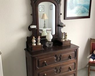 Victorian Eastlake Dresser with fabulous mirror. Excellent condition. Family Heirloom from late 1800's. $425