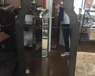 Large Restoration Hardware Arched Mirror: $695