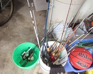 Fishing Poles and tackle