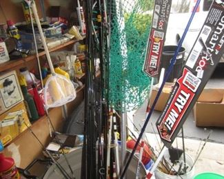 Fishing Poles and net