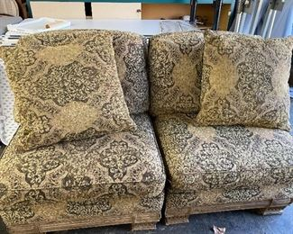 """2 Overstuffed Chairs - All Cushions come off  80.00 PR   31"""" w x 43"""" d x 34"""" t"""