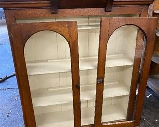 """Goes with base- 1880's China Hutch 11"""" d x 45"""" t   $600    hand carved - very nice for any age."""