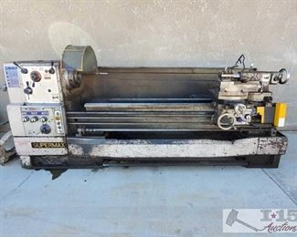 """41-Super Max Lathe Super Max Lathe, Model# LG-2680, Serial# BC8607-003, Approximately 51""""x136""""x62"""" Overall Size, Lathe Bed Is Approximately 79""""L x 16""""W"""