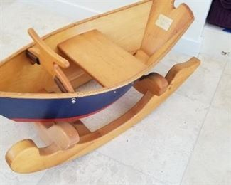 newport Dory childs rocking boat