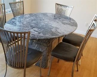 exquisite granite table with chairs, was  $1495, now $625!