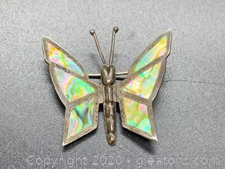 Mexican Sterling Butterfly Pin