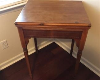 """Antique Bedroom Lot 5 Vintage Sewing Table w/Sears Best $50.00 Dimensions 22""""L 17""""W 31""""H"""