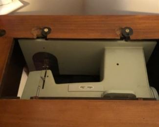Antique Bedroom Lot #5 Vintage Sewing Table with Sears Best