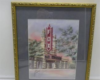 Signed Numbered Fox Theatre Print