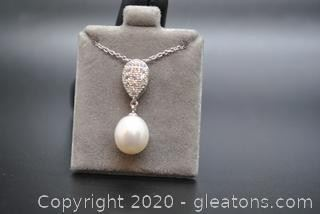 Sterling Silver Pearl Necklace