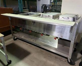 Duke Aerohot 5 bay steam table