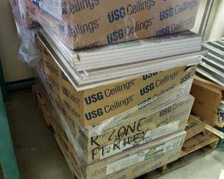 Pallet of ceiling tile