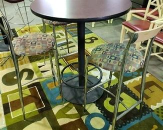 Table and (3) barstools
