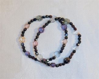 Pair of multi-color, faceted beaded, stretch bracelets.  $4  (was $5)