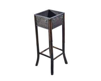 9. Wood and Metal Plant Stand