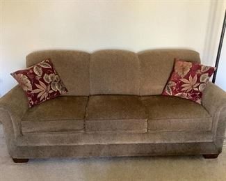 "Lazy Boy Couch = $275.00  86"" W X 38"" D X 36"" T Very good condition.  Brown fabric"