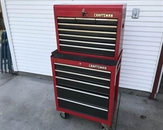 Craftsman Tool Cart Full of Tools