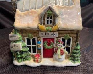 Holiday Lodge Cookie Jar