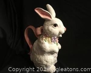 Easter Spring Rabbit Pitcher