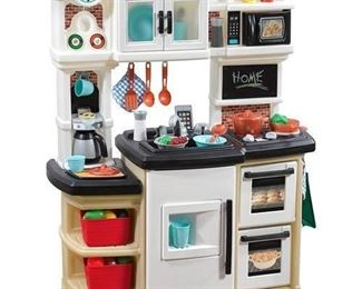 Step2 Great Gourmet Play Kitchen with Storage Bins and Accessory Set - Tan