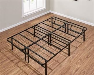"""Mainstays 14"""" High Profile Foldable Steel Bed Frame, Powder-coated Steel, NOT INSPECTED OUTSIDE OF BOX"""