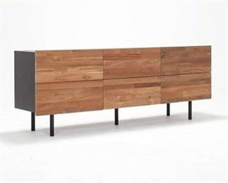 Eq3 Charcoal Reclaimed Teak 6 Drawer Dresser