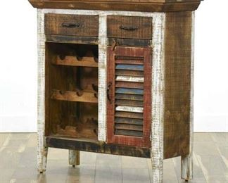 Rustic Shabby Chic Bar Cabinet, Mexico