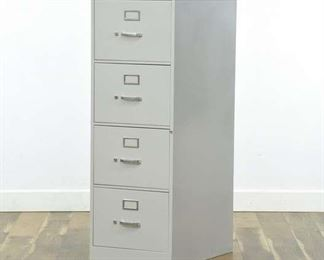 Hon White Metal Industrial Tall File Cabinet