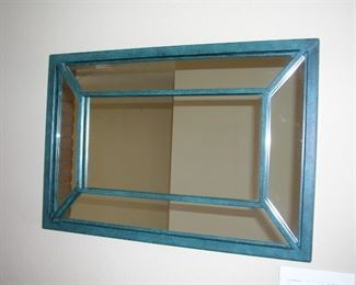 "Item #30 - Decorator Mirror with Metal Frame - 30"" x 20"" - Asking Price Reduced to $20!!!"