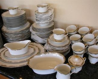 Item #38 - Large Set of Sango China - Chateau Pattern 3627 - 110+ pieces - Wow! - Asking Price Reduced to $95!!!