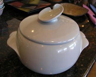 Item #36 - Vintage Frankoma Bean Pot - Light Lavender Color - Asking Price $15
