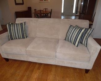 Price $250.  Beige/Taupe colored Sofa, Microfiber, great condition,