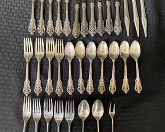 Mixture of Wallace sterling silver flatware