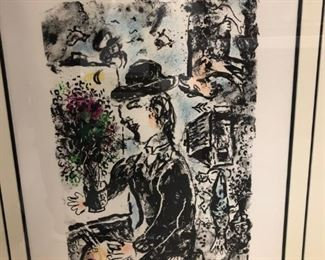 Marc Chagall - Hand signed litho - $9,750