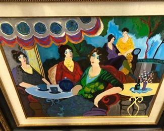 "Tarkay original on canvas - $5,250 30"" x 40"""