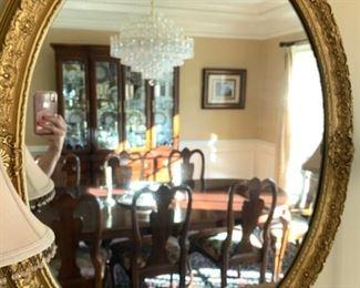 Oval baroque-like wall mirror ==> $125 plus tax