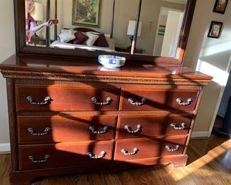 Dresser with mirror ==> $500 plus tax